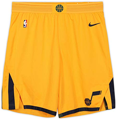 Utah Jazz Team-Issued Yellow Shorts from the 2017-18 NBA Season - Fanatics Authentic Certified - Game Used NBA Shorts