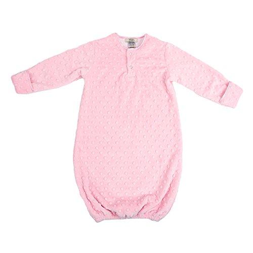 My Blankee Sleeper Gown Minky Dot, Pink, 3-6 Months