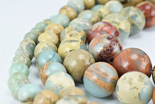 (Natural Snake Skin Jasper Stone Beads, Gemstone Round 6mm,8mm,10mm,12mm Natural Stones Beads healing stone chakra stones for Jewelry Making (8mm))