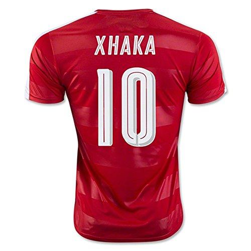 a05c0b6d6 Super Hot 2016 2017 Switzerland 10 Granit Xhaka Home Football Soccer Jersey  In Red 60%