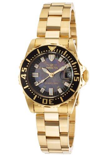 - Invicta Women's 2962 Pro Diver Analog Display Swiss Quartz Gold Watch