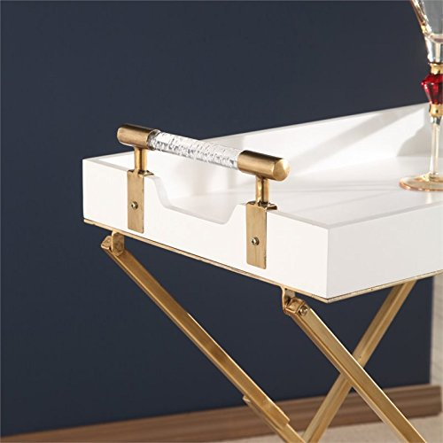 Abbyson Bella Iron Tray Table in White by Abbyson Living (Image #3)