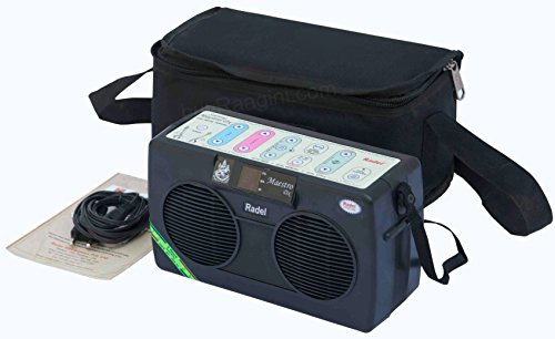 Electronic Tanpura - RADEL Mini Miraj Electronic Tanpura Box, Tanpura Sampler, Digital Tambura Sound Machine, Power Cord, Bag, Instruction Manual (PDI-DCG) -
