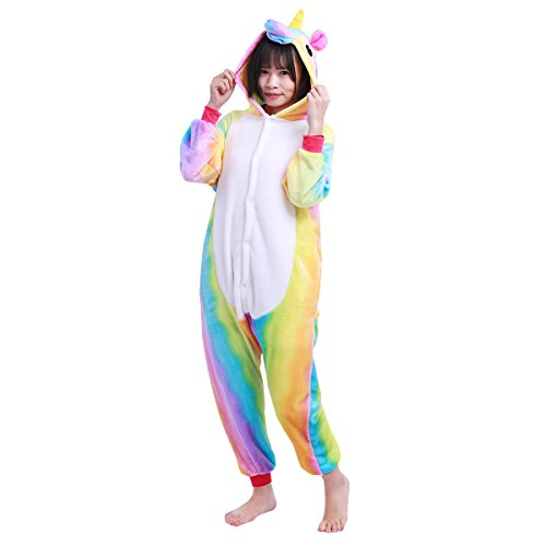 iEFiEL Kids Boy Girls Cute One-piece Unicorn Pajamas Animal Sleepwear Homewear Cosplay Costume Colorful - Piece One Photo