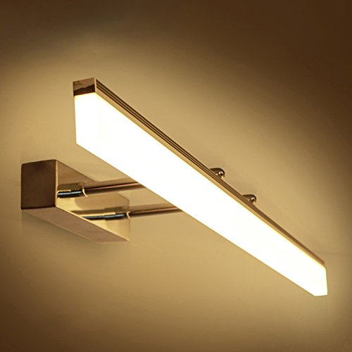 Metal Gold Mirror Front lamp Warm White LED Vanity Bathroom Light ...
