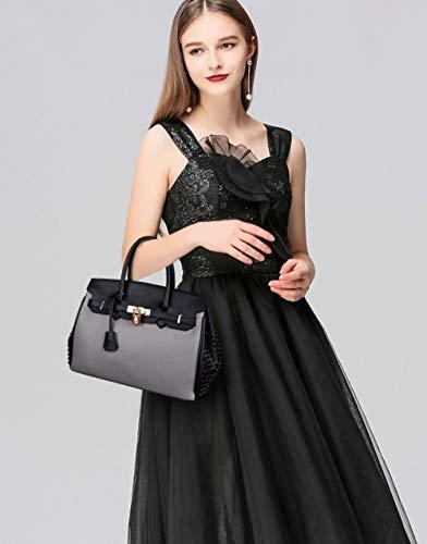 à Provisions Sac Sac Shopping Convenable PU Grande Bandoulière Dames à Matériel KYOKIM Capacité Shopping à Sac Main Gray pvqIC