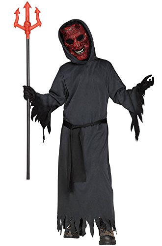 Fun World Big Boy's Smoldering Devil Costume Childrens Costume, Black, Medium