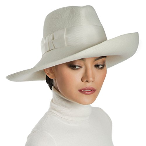 Eric Javits Luxury Fashion Designer Women's Headwear Hat - Candice - Off White by Eric Javits