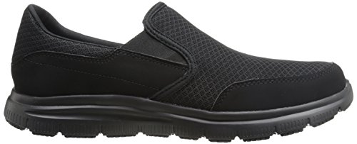 Skechers Men's Black Flex Advantage Slip Resistant Mcallen Slip On - 10.5 D(M) US by Skechers (Image #7)