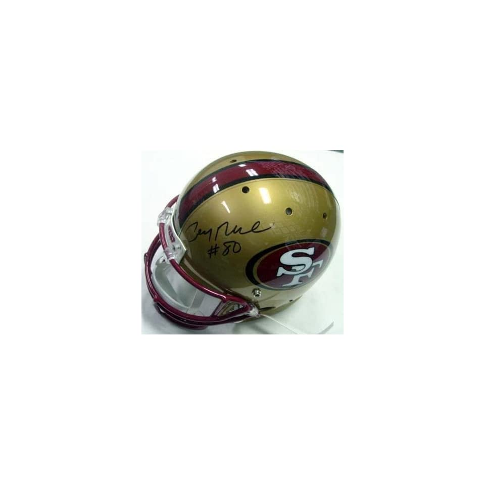 Jerry Rice Autographed Helmet   San Francisco 49ersHologram