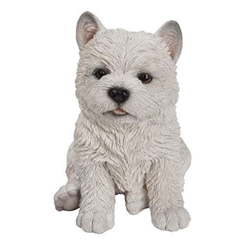 Pacific Giftware PT Realistic Look White West Highlands Westie Puppy Dog Home Decorative Resin Figurine (Westies Boots)