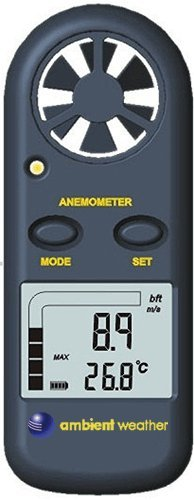Ambient Weather AR-816 Handheld Wind Meter with Temperature