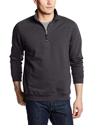 Charles River Apparel Unisex-Adult's Crosswind Quarter Zip Sweatshirt (Regular & Big-Tall Sizes), Dark Charcoal, - Quarter Mens Zip Fleece