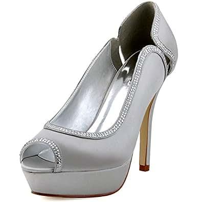 Amazon.com | ElegantPark HP1503P Women Prom Peep Toe