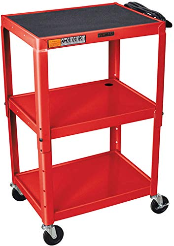 Luxor W42ARE Height Adjustable Steel AV Cart - Electric