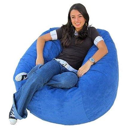 Peachy Cozy Sack 4 Feet Bean Bag Chair Large Sky Blue Cjindustries Chair Design For Home Cjindustriesco