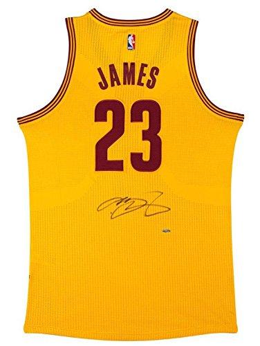 outlet store 61756 f4219 Autographed LeBron James Jersey - Alternate Gold - Upper ...