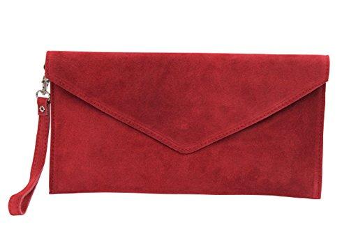 AMBRA Moda - Bolso de hombros de mujeres ( 32 x 2 x 17 cm), Rojo