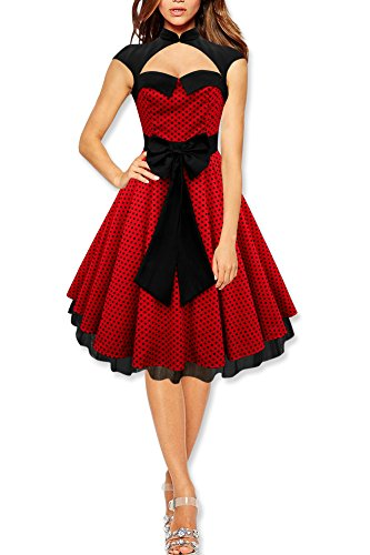 Black-Butterfly-Athena-Polka-Dot-Large-Bow-Dress