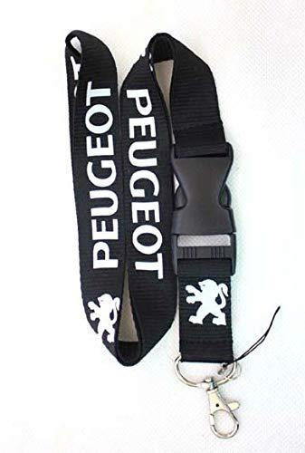Tgh (LanPGT) Lanyard Llavero Negro Sport con Logo Peugeot ...