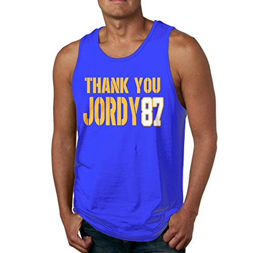Men's Cotton Tank Top Shirts Bay Thank You Jordy Sleeveless Gym Vest - Stadium Club 2008
