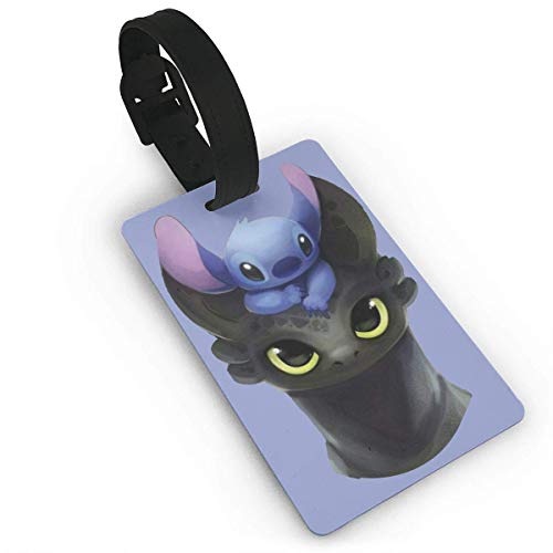 Luggage Tags Holders for Travel Luggage,Luggage Tags for Suitcases, Stitch On Toothless Luggage Tags, Bag Tag Travel ID Labels Tag for Baggage Suitcases Bags]()