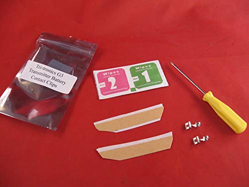 Tri-Tronics G3 Handheld Transmitter Battery Contact Replacement Repair Clips (2)