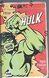 The Incredible Hulk Triple Feature Vol. 1 VHS Cartoon