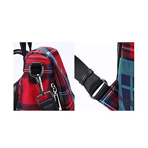 Stile Corea Personalità Britannico Zaino Yxpnu Libero Viaggi Moda Donna Tempo Red Da qan8zt