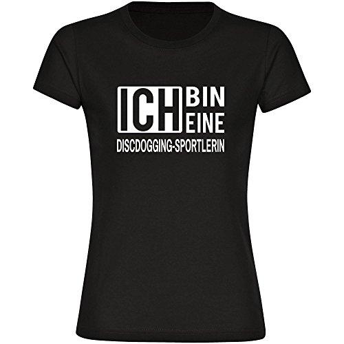 T-Shirt ich bin eine Discdogging-Sportlerin schwarz Damen Gr. S bis 2XL