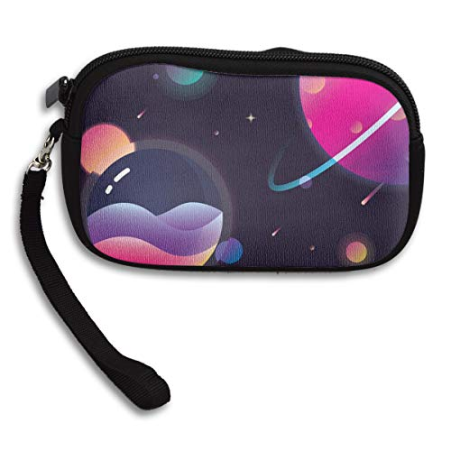 RFVED Planets Artwork Stars Galaxy Canvas Coin Purse Student Pencil Case Pen Pouch Cosmetic Makeup Bag Cosmetic Organizer Multipurpose Pouches