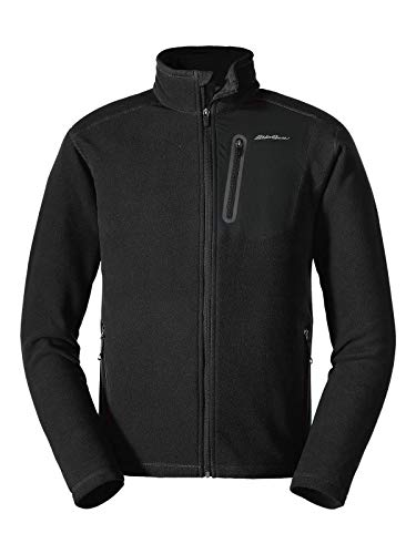 Eddie Bauer Men's Cloud Layer Pro Full-Zip Jacket, Black Regular XXL