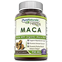 Pure Naturals Maca 950 Mg - Made with Organic Maca Root (120 Count)