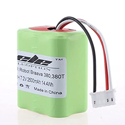 2500mAh Ni-MH 7.2 Volt Replacement Battery for iRobot Roomba Braava 380 380T 7.2V
