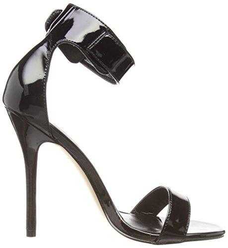 Pleaser Donna nero Tacco Con 10 Nero T Amuse Scarpe nero Cinturino A Col FrwFpq1