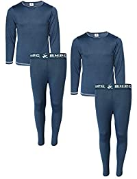 de35bc672 Boys 4-Piece Performance Thermal Underwear Set (2 Full Sets)