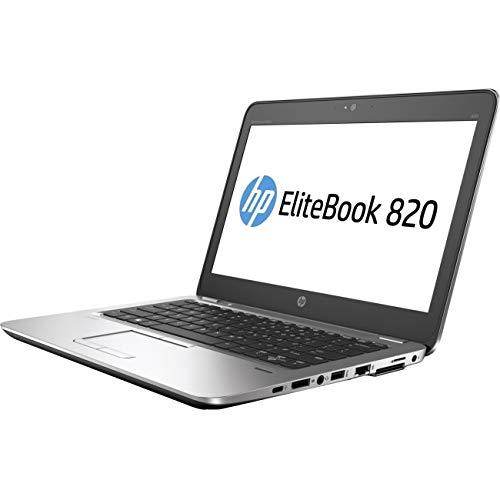 "HP Elitebook 820 G4 12.5"" Notebook, Windows, Intel Core i7 2.7 GHz, 16 GB RAM, 256 GB SSD , Silver (1FX41UT#ABA)"