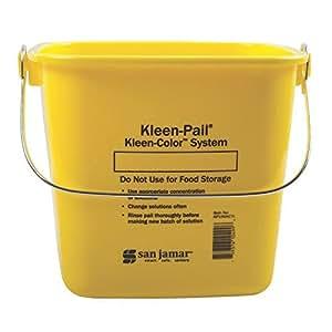 San Jamar KP196KCYL Yellow 6-Quart Kleen-Pail