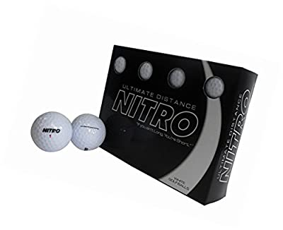 Ultimate Distance Nitro White Golf Ball 12 pk