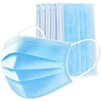 3-Mei 50pcs 3-Layer Disposable Face Ma-sk Adult Anti-fog Haze Dustproof Non-Woven Fabrics Ma-sk