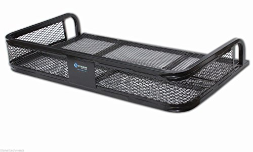 Cooler Rear Rack (Titan Attachments Universal ATV Rear Back Cargo Basket Steel Rack Hunting Fishing ARFR2030)