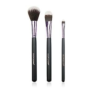 Foundation Makeup Brush + Blush Brush + Eyeshadow Brush, Professional Portable Makeup Brush Set Makeup Tools Cosmetic Brush Foundation Cream Powder Blush Blending Face Eye Brush Kit Sets (3Pcs)