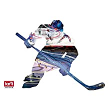 Hockey Poster-Sticker Wall-Tattoo - Ice Hockey Player, Motive Size 90 x 68 Cm (38 x 19 inches)