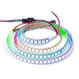 BTF-LIGHTING WS2812B 144 leds/pixels/m Individual Addressable Full Color led pixel strip Dream Color Non-waterproof 3.2FT 1m