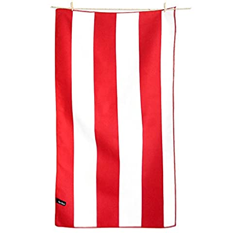 Backpacking Towels - Quick Dry Towel for Travel Hiking Beach Swim Pool - Large Sports Camping Bath Towel - Red & White Stripes (20
