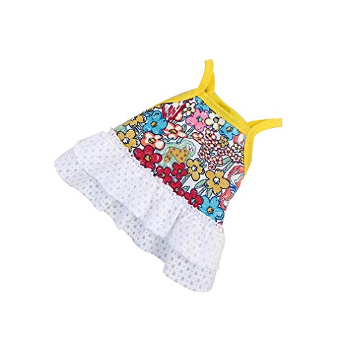 GHHZZQ Pet Dog Clothes Sling Dress Multi-Layer Skirt Thin and Light Breathable Lovely Thin and Light Mash Up (Color : A, Size : L)
