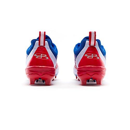 Boombah Menns Marauder Støpt Cleats - 7 Fargealternativer - Flere Størrelser Royal / Rød