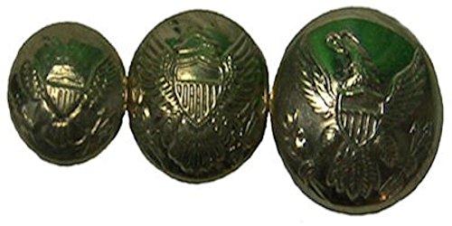- Civil War U.S. General Service Brass Eagle Uniform Buttons (Medium - 3/4 Inch)