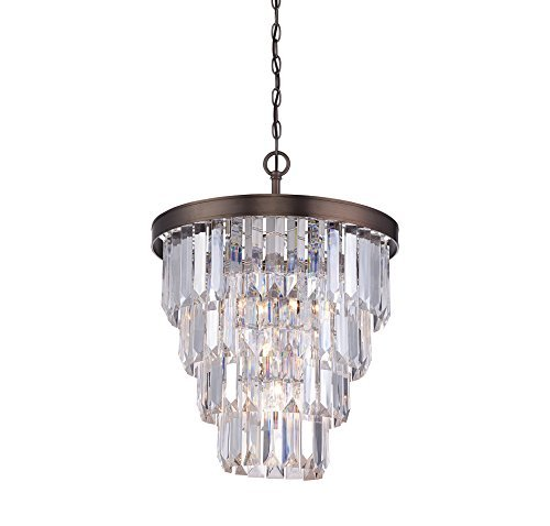 Savoy House 1-9805-4-28 Tierney 4 Light Chandelier in Burnished Bronze