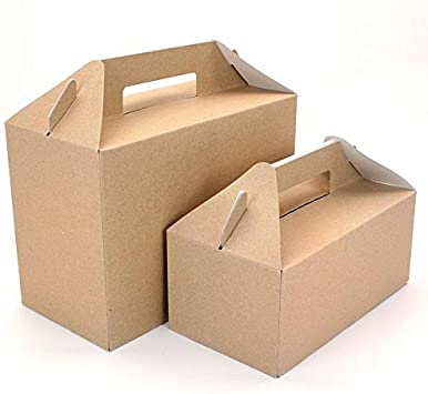 5 marrón Picnic fiesta y cajas de Gable – SML: Amazon.es: Hogar